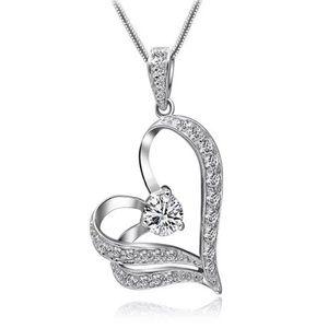 ❤️gorgeous 925 silver diamond heart necklace